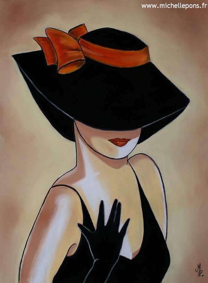 Dame au Chapeau – N°1